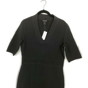 Ann Taylor Factory Black V-Neck Dress Small